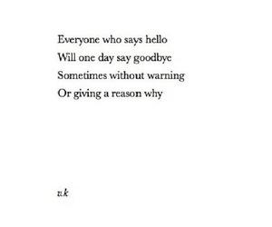 goodbye, hello, and life image