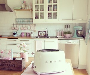 kitchen, girly, and decor image