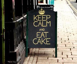 cake, keep calm, and eat image
