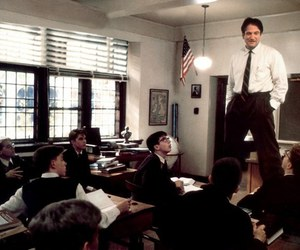 robin williams, dead poets society, and movies image