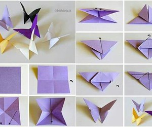 diy, butterfly, and origami image