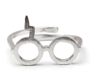 mens ring, couple ring, and harry potter ring image