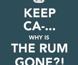 rum, keep calm, and jack sparrow image