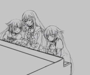 pandora hearts, aliss, and alice baskerville image