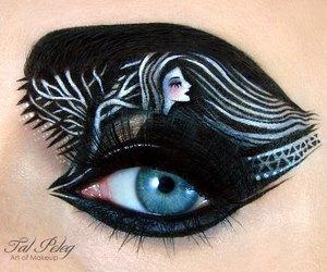 makeup, black, and eye image