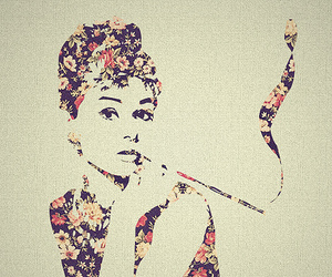 audrey hepburn, flowers, and vintage image