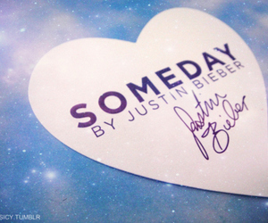 heart, someday, and justin bieber image