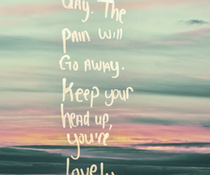 quote, pain, and lovely image