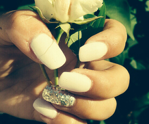 nails, flower, and glitter image