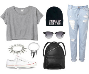 edgy, fashion, and Polyvore image