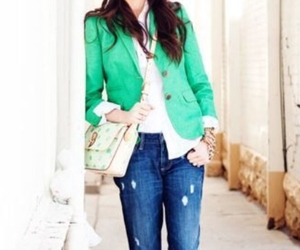 accessories, blazer, and green image