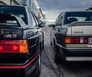 benz, bmw, and cars image