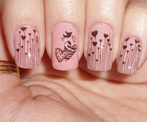 nails, pink, and hearts image