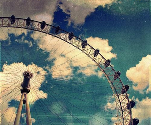 sky, clouds, and london image