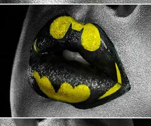 lips, batman, and superman image
