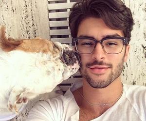 boy, dog, and guy image