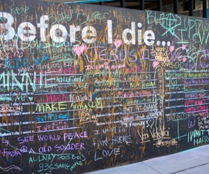 before i die, die, and wall image