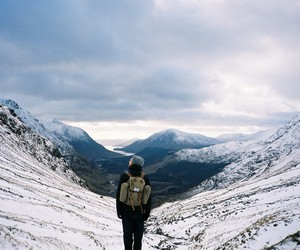 mountain, travel, and winter image