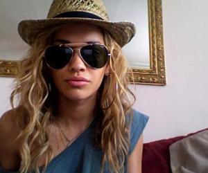 blonde, rita ora, and curls image