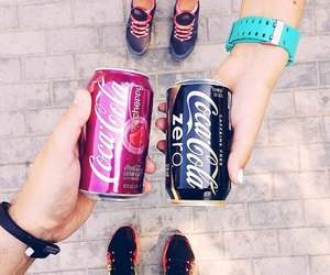 coca cola, people, and drink image