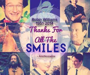 robin williams, smile, and rip image