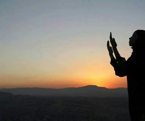 allah, girl, and sunset image