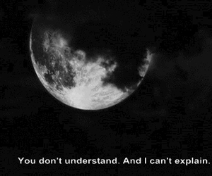moon, quotes, and sad image