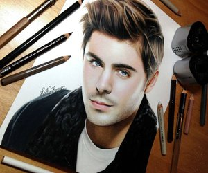 drawing, zac efron, and art image
