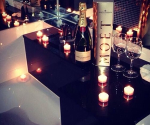 candles, champagne, and drinks image