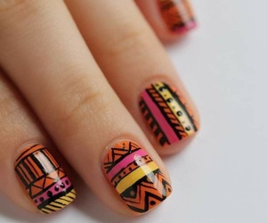 nails, pink, and tribal image