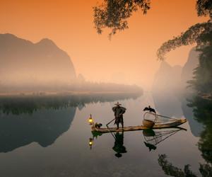 china, li river, and fishing with carmorants image