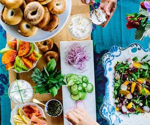 food, breakfast, and bagel image