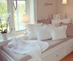 white, cozy, and decoration image