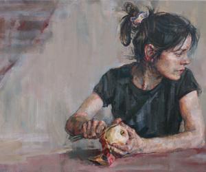 arms, eating, and girl image