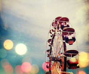 ferris wheel, photography, and fun image