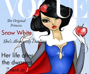 vogue, disney, and snow white image