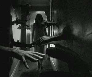 horror, hands, and black and white image