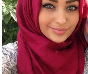 girl, hijab, and islam image