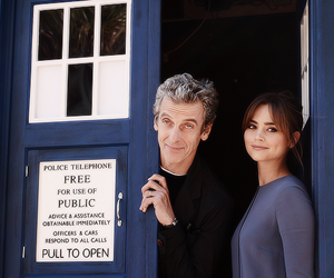 doctor who, tardis, and peter capaldi image