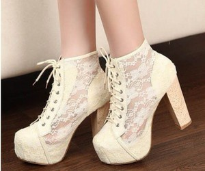 shoes, fashion, and boot heels image