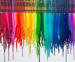 crayon, art, and rainbow image