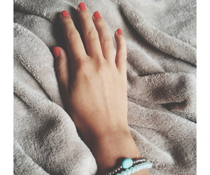 hand, nails, and sweet image