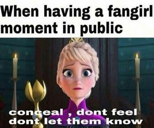 fangirl, frozen, and funny image