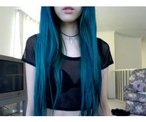 blue, grunge, and blue hair image