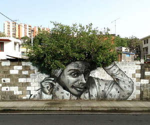 art, tree, and street image