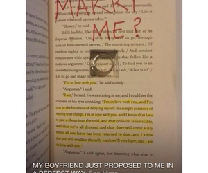 book, couple, and marry me image