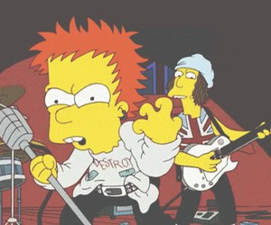 sex pistols and the simpsons image