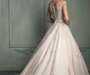 bride, white, and dress image