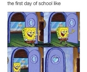 funny, school, and spongebob image