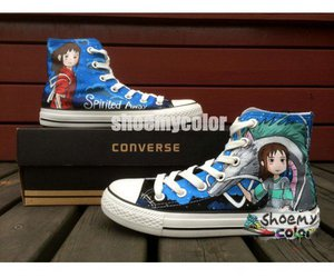 converse all star, spirited away, and converse shoes image